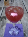 Cherry prosecco punch