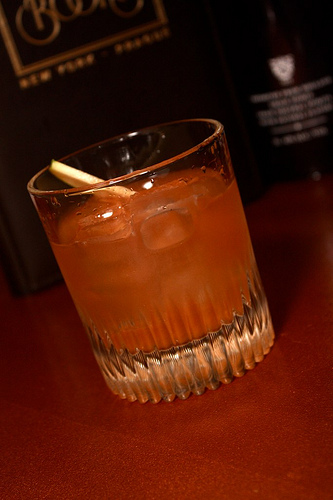Ben Scorah's Green Apple-Infused Old Fashioned.