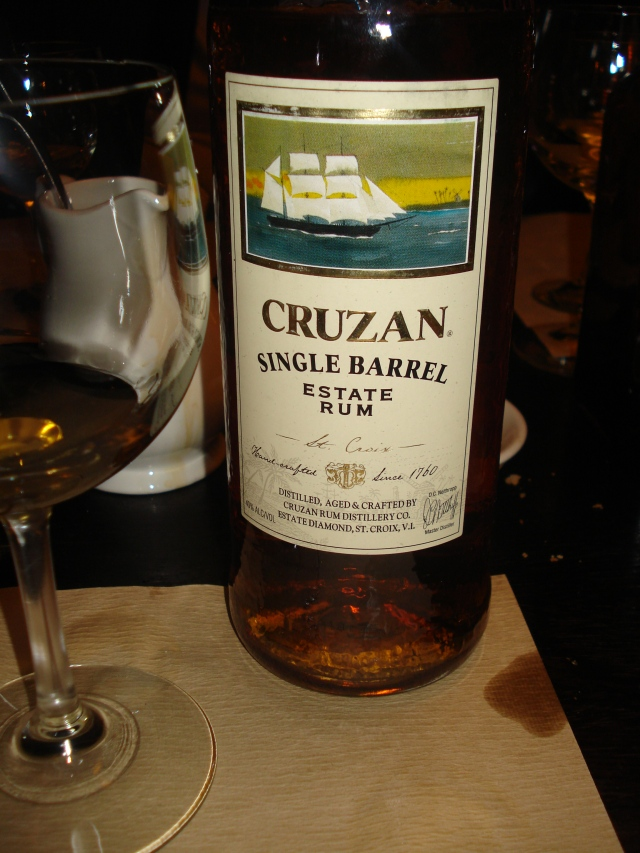 Cruzan Single Barrel, a blend of rums aged 5 to 12 years