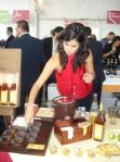Hillary Choo pouring Atlantico Rum