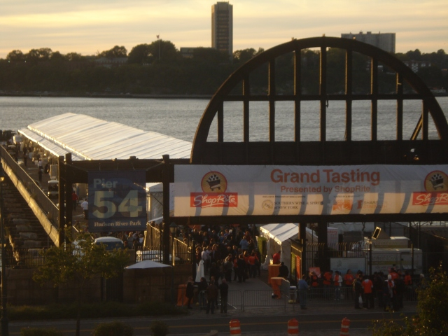 The Grand Tasting tent on the Chelsea Pier seemed to stretch all the way to Jersey.