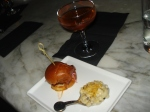 Pulled-pork slider, truffle mac, and the Daisy Buchanan.