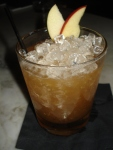 """Little Engine"" (Famous Grouse whisky, tawny port, apple butter, maple syrup, lemon juice)"
