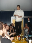 Peter Smith, chef/owner of PS7's toasts the end of a successful ball