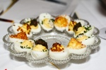 Deviled eggs four ways.