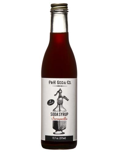 P&H SODA CO SARSAPARILLA SYRUP