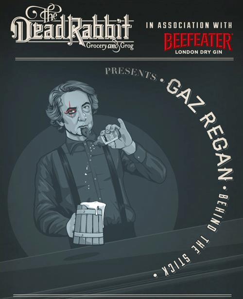 Gaz tends bar at the Dead Rabbit on Monday, Feb. 25.
