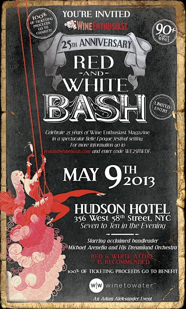 Don't miss the Red and White Bash on May 9 at Hudson Hotel!