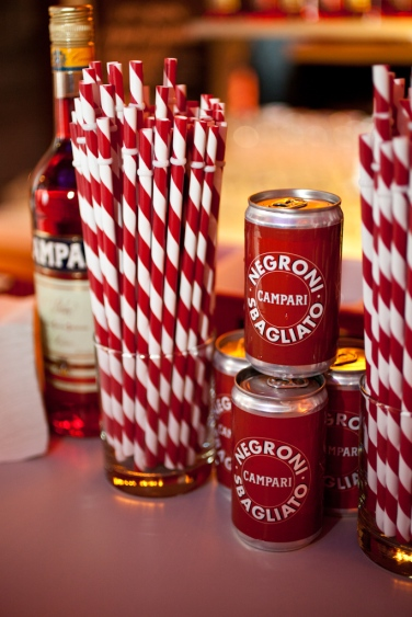 Canned Negronis. Photo by Virginia Rollison.