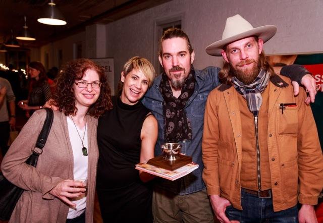 Kara Newman, Elayne Duff, Brian Miller and Damon Boelte (L-R)