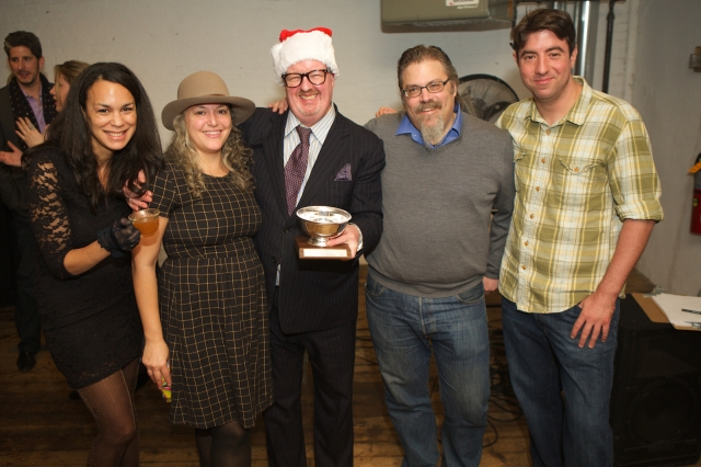 Yours truly, Lynnette Marrero, James Menite, David Wondrich, and Leo DeGroff (L-R).